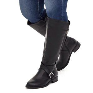 Torrid Tall Knee High Wide Calf Faux Leather Boots
